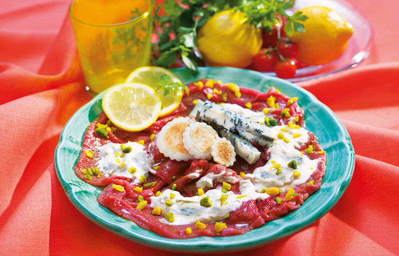 Carpaccio-gorgonzola