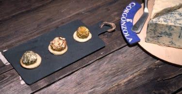 Praline di Gorgonzola, noci, pistacchio e semi di zucca